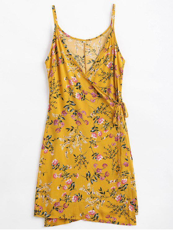 lady Floral Print Cami Wrap Dress - GINGER M