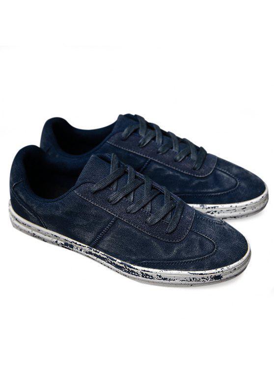 منخفضة أعلى التعادل حتى الأحذية عارضة - أزرق 44