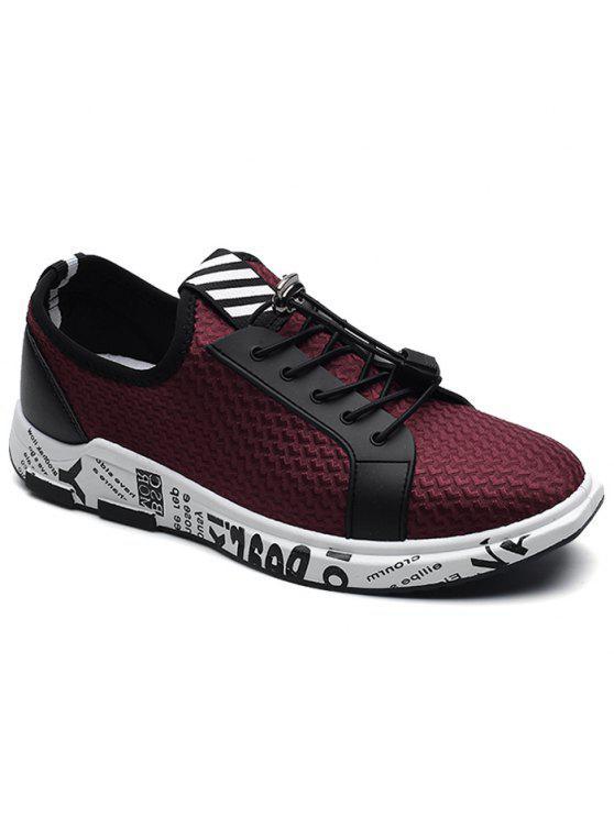 كتلة اللون إلكتروني طباعة الانزلاق على أحذية رياضية - أحمر 44