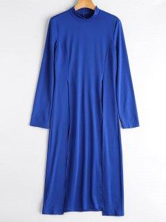 Camiseta De Longline Con Hendidura Alta - Azul S