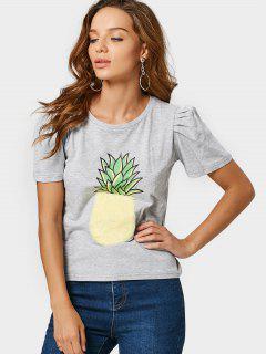 T-shirt En Coton Fuzzy Ananas - Gris M