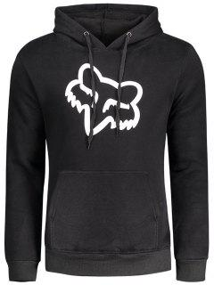 Flocking Graphic Hoodie - Black S