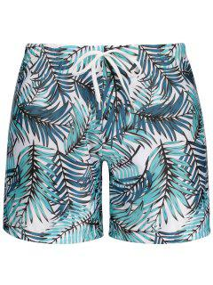 Leaf Print Swim Trunks - M