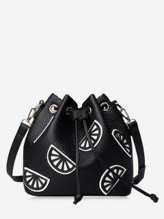 Bolsa De Cuchara Con Cordón De Color - Negro