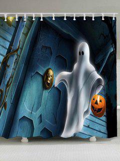 Halloween Ghost Pumpkin Lamp Shower Curtain - W71 Inch * L71 Inch