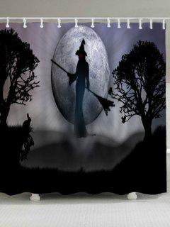 Bruja De Halloween Impermeable Cortina De Ducha - Gris W71pulgadas*l71pulgadas