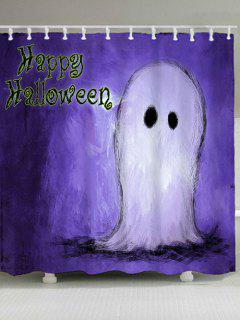 Happy Halloween Ghost Waterproof Shower Curtain - Purple W71 Inch * L71 Inch