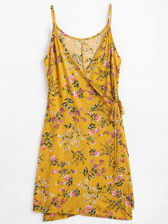 Floral Print Cami Wrap Dress - Ginger S
