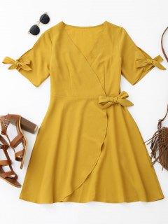Gewicktes Kleid Mit Verdeckung - Ingwer-gelb Xl