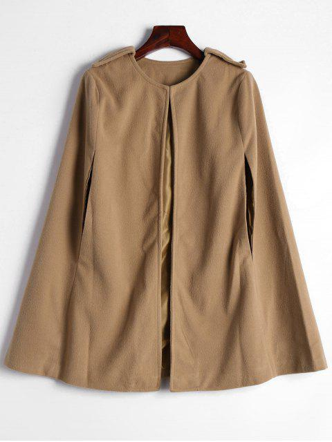 Manteau Cape Simple - Camel L Mobile
