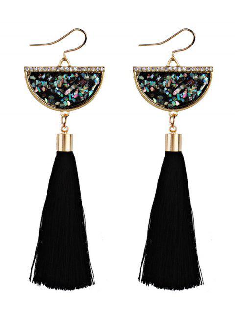 Pendentif en perles - Noir  Mobile