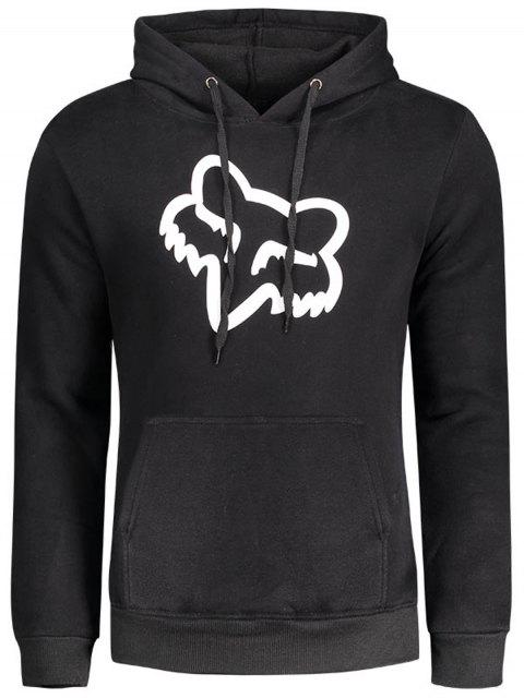 new Flocking Graphic Hoodie - BLACK S Mobile