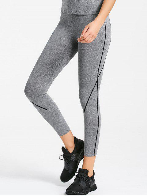 hot Marled Sports Leggings - FEATHER GRAY M Mobile
