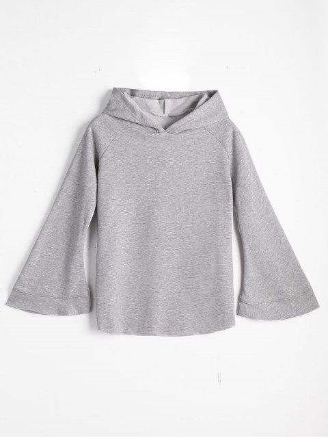 best Casual Loose Flare Sleeve Hoodie - GRAY ONE SIZE Mobile