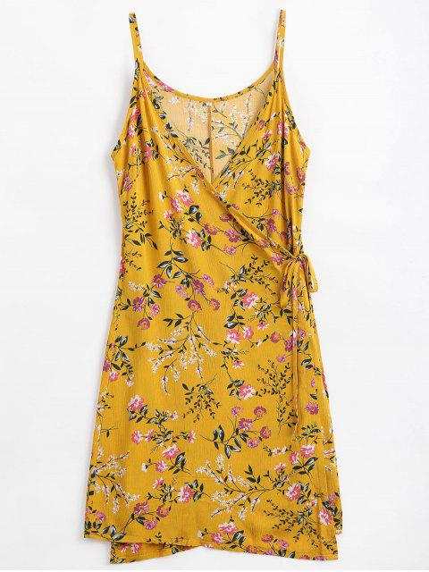 lady Floral Print Cami Wrap Dress - GINGER M Mobile