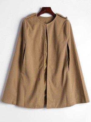 Plain Cape Coat - Camel S