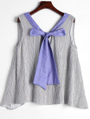 Striped Bow Tie Tank Top - Stripe Xl