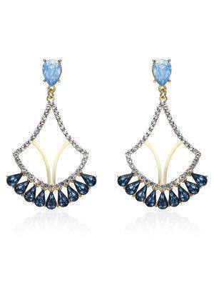 Sparkly Rhinestone Faux Crystal Earrings - Blue