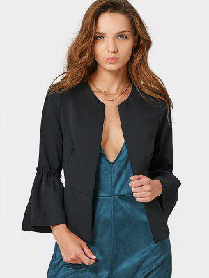 Flounces Flare Sleeve Open Front Blazer