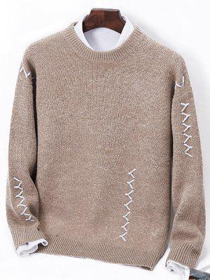 Sennit Design Crew Neck Pullover Sweater
