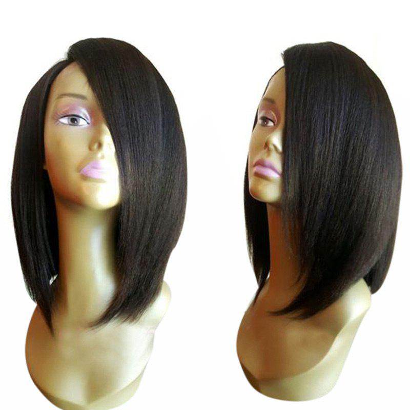 Medium Side Parting Shoulder Length Straight Bob Synthetic Wig 223578901