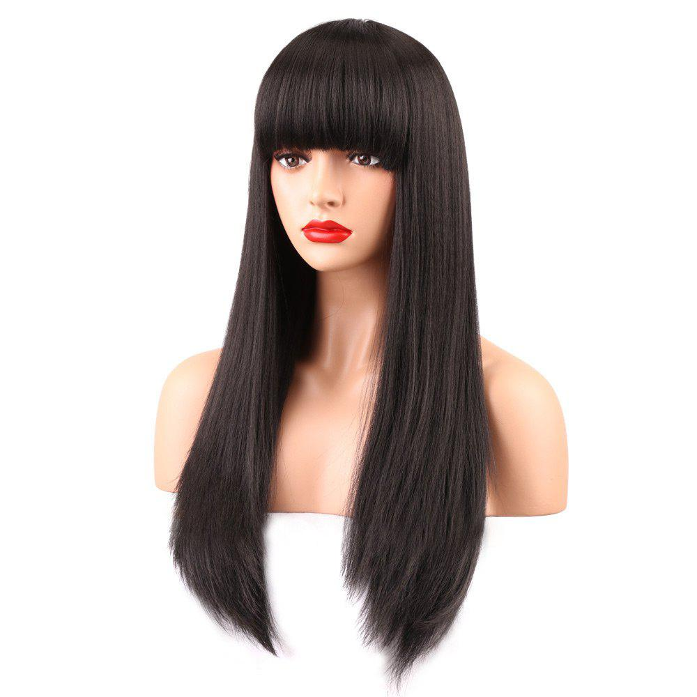 Long Neat Bang Straight Synthetic Wig 223693101