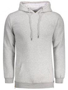 Sides Zipper Hoodie - Light Gray S