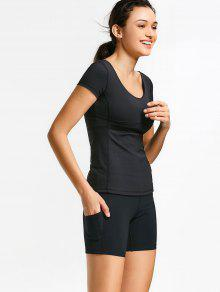 Active Padded Top With Shorts Gym Suits - Black S