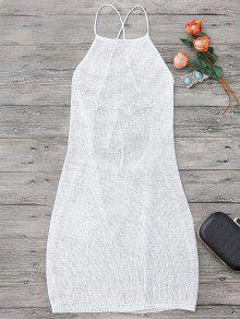 سترابي المئزر الرقبة شاطئ التستر اللباس - أبيض