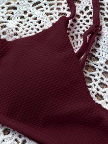 228e0d7f4f15e 25% OFF   HOT  2019 High Cut Bralette Bikini Set In WINE RED