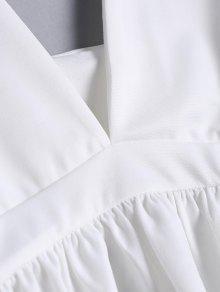 De De Pliegue Cuello S S Blanco Cuello Blanco Cuello Pliegue vqaWtFE