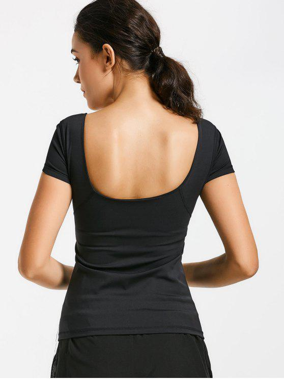 womens Scoop Padded Sporty Top - BLACK S