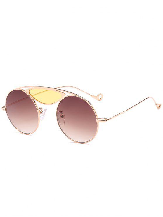 Camber Metal Crossbar Round Óculos de sol - Cor de chá