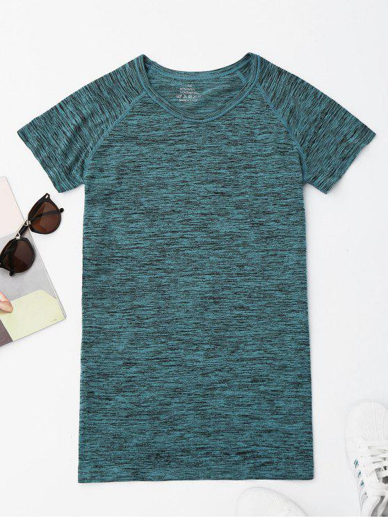 womens Heathered Sports Top - GREEN S