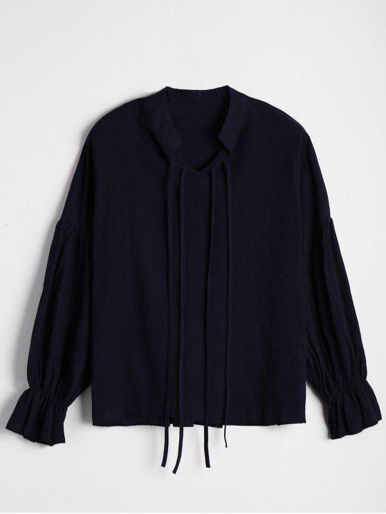 Puños Elásticos Blusa suelta - Azul Purpúreo M