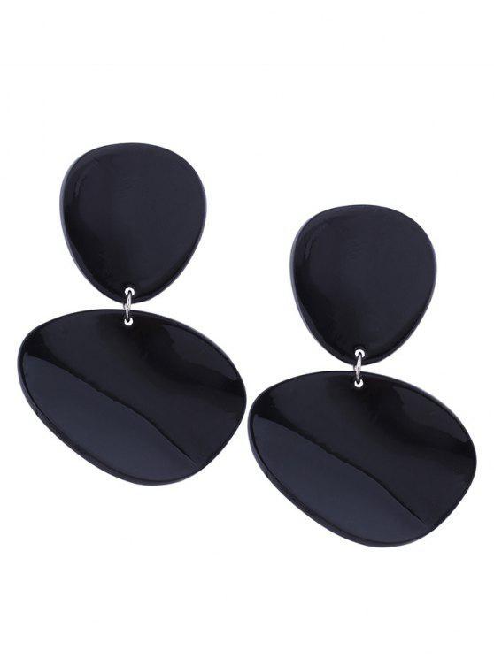 Boucles d'oreilles en résine - Noir