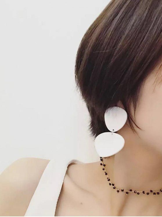 Boucles d'oreilles en résine - Blanc