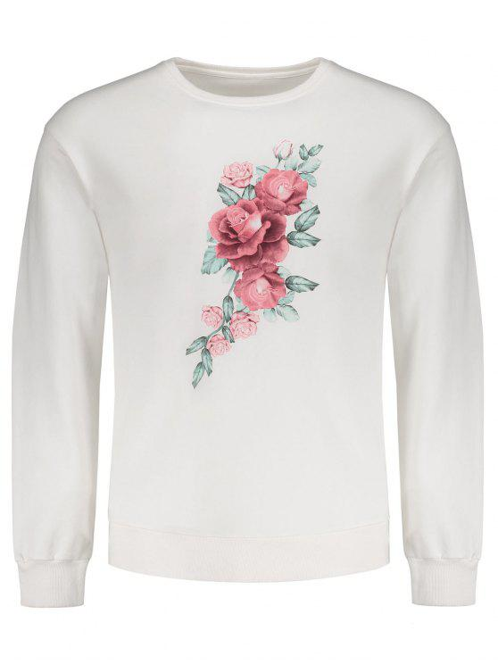 Sweat-shirt Imprimé Floral - Blanc S