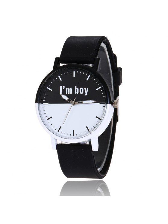ساعة شريطها سليكون - أسود