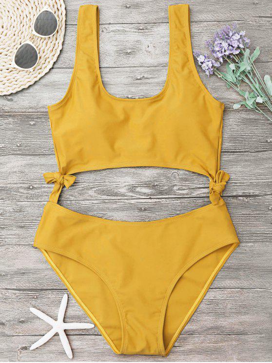 عالية الساق قطع بونوت ملابس السباحة - زنجبيل L