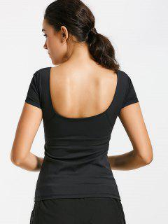 Scoop Padded Sporty Top - Black M