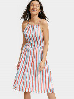 Stripe Slip Dress - L