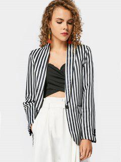 Stripes Flap Pockets Blazer - Stripe S