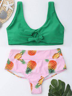 Ensemble De Bikini à La Taille Haute Et à La Taille Des Ananas - Vert 2xl