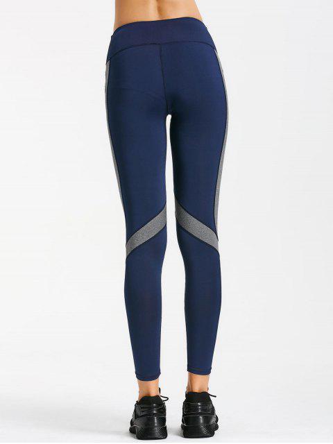lady Two Tone Active Yoga Leggings - PURPLISH BLUE XL Mobile