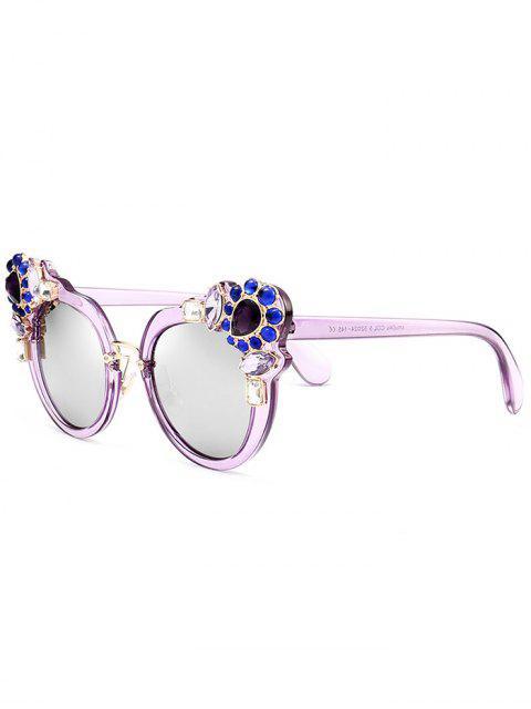 Faux Cristal Gemstone Inlay Anti Uv Lunettes De Soleil - Pourpre  Mobile