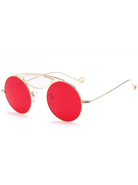 Camber Metal Crossbar Round Lunettes de soleil - Rouge  Mobile