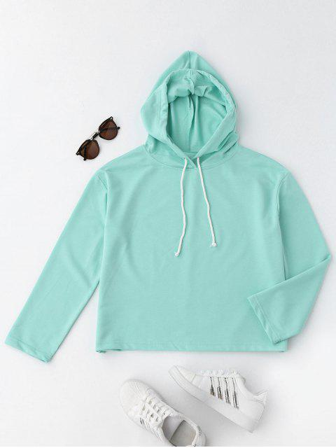 online Sporty Boxy Hoodie - GREEN L Mobile