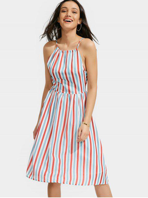 online Stripe Slip Dress - COLORMIX L Mobile