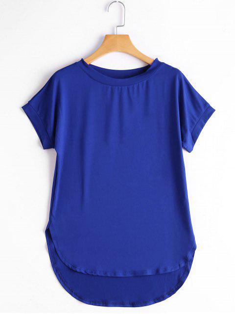 T-shirt Haut-Bas Simple Col Rond - Azuré M Mobile